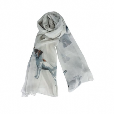 Scarf Jack Russell Grey